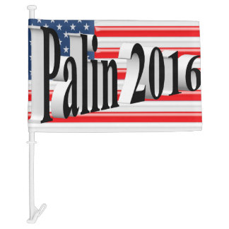 PALIN 2016 Car Flags, Black 3D, Old Glory Car Flag