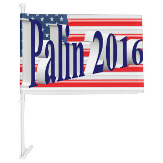 PALIN 2016 Car Flags, Blue 3D, Old Glory Car Flag