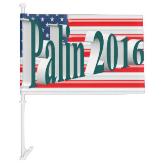 PALIN 2016 Car Flags, Blue Green 3D, Old Glory Car Flag