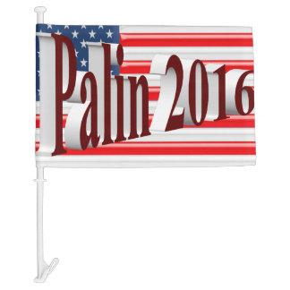 PALIN 2016 Car Flags, Burgundy 3D, Old Glory Car Flag