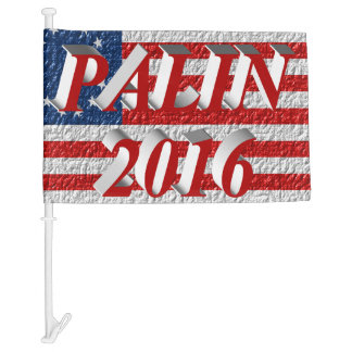 PALIN 2016 Car Flags, Light Red 3D, Betsy Ross Car Flag