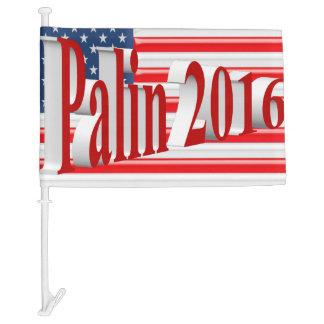 PALIN 2016 Car Flags, Light Red 3D, Old Glory Car Flag