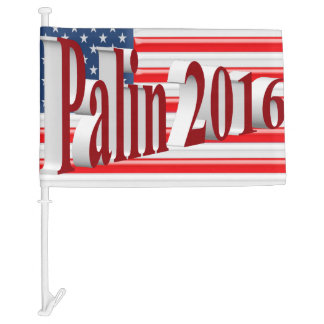 PALIN 2016 Car Flags, Red 3D, Old Glory Car Flag