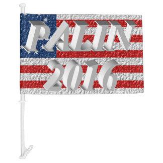 PALIN 2016 Car Flags, White 3D, Betsy Ross Car Flag