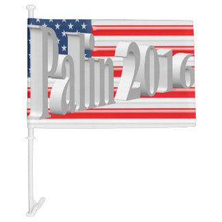 PALIN 2016 Car Flags, White 3D, Old Glory Car Flag