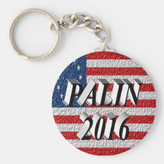 PALIN 2016 Key Chain, Black 3D, Betsy Ross Basic Round Button Key Ring