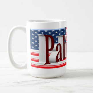 PALIN 2016 Mug, Burgundy 3D, Old Glory Coffee Mug