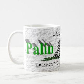 PALIN 2016 Mug, Light Green 3D, White Gadsden Coffee Mug