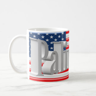 PALIN 2016 Mug, White 3D, Old Glory Coffee Mug