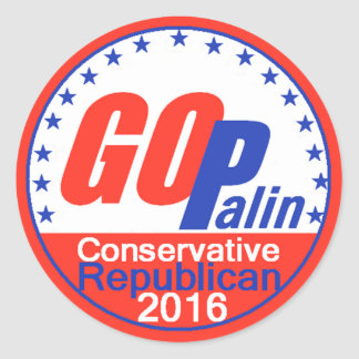 PALIN 2016 ROUND STICKER