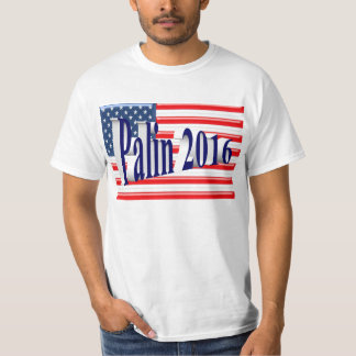 PALIN 2016 Shirt, Blue 3D, Old Glory T-Shirt