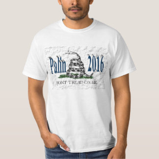 PALIN 2016 Shirt, Ocean Blue 3D, White Gadsden T-Shirt