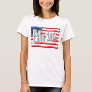 PALIN 2016 Shirt, White 3D, Old Glory T-Shirt