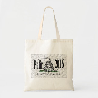 PALIN 2016 Tote Bag, Black 3D, White Gadsden
