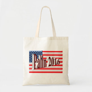 PALIN 2016 Tote Bag, Burgundy 3D, Old Glory