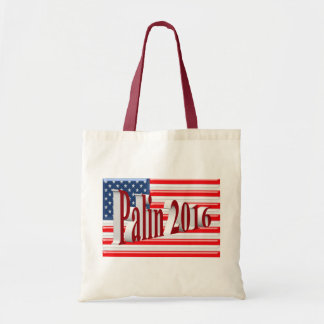 PALIN 2016 Tote Bag, Red 3D, Old Glory