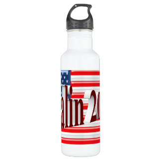 PALIN 2016 Water Bottle, Burgundy 3D, Old Glory 710 Ml Water Bottle