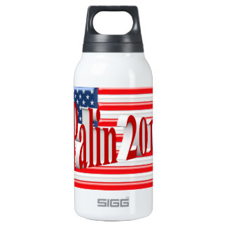 PALIN 2016 Water Bottle, Light Red 3D, Old Glory Insulated Water Bottle