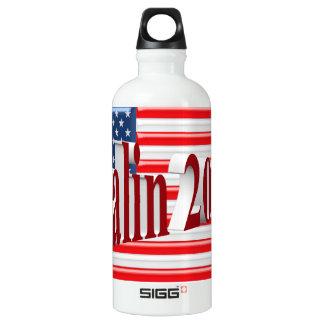 PALIN 2016 Water Bottle, Red 3D, Old Glory Water Bottle