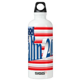 PALIN 2016 Water Bottle, Sea Blue 3D, Old Glory Water Bottle