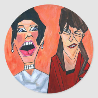Palin and Bachmann Classic Round Sticker