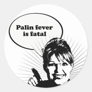 Palin fever is fatal sticker
