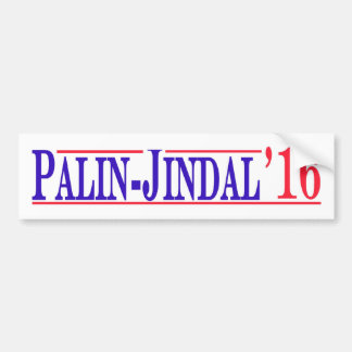 Palin - Jindal 2016! Bumper Sticker