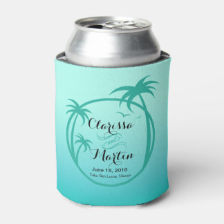 Palm Beach Tropical Logo | aqua Can Cooler