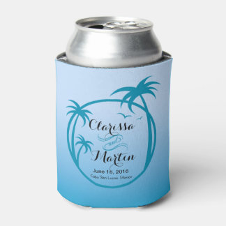 Palm Beach Tropical Logo | sky blue Can Cooler