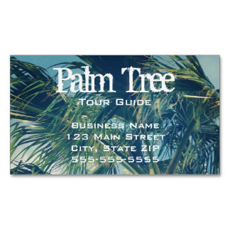 Palm Fronds Magnetic Business Card