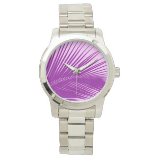 Palm leaf - orchid and purple watch