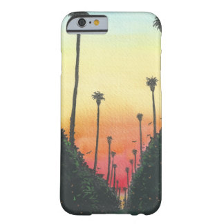 Palm Lined Street at Sundown Barely There iPhone 6 Case