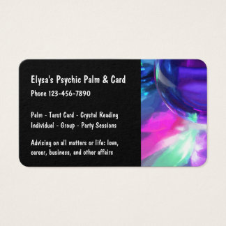 Palm Reading Advice Business Card
