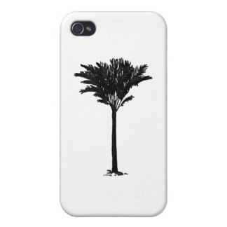 Palm Tree 2 Black The MUSEUM Zazzle Gifts Case For iPhone 4