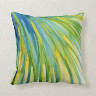Palm Tree Abstract Watercolor Cushion