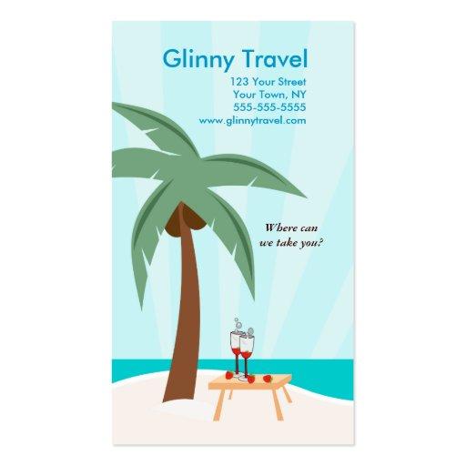 Palm Tree Beach Ocean Business Card Template