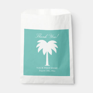 Palm tree beach wedding thank you party favor bags favour bags