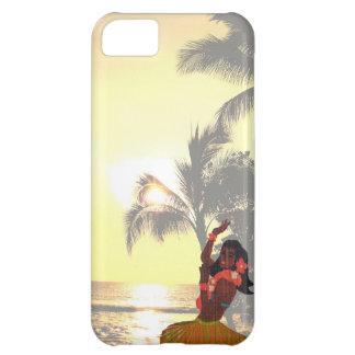 Palm Tree Beach with Hawaiian Hula Girl iPhone 5C Case