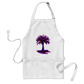 Palm Tree Purple The MUSEUM Zazzle Gifts Aprons