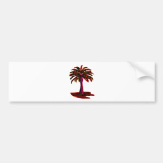 Palm Tree Red The MUSEUM Zazzle Gifts Bumper Stickers