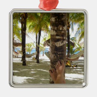 Palm Trees and Hammock Christmas Ornament
