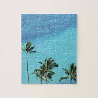 Palm trees and surface of the sea jigsaw puzzle