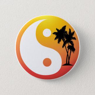 Palm Trees at Sunset Yin Yang Button