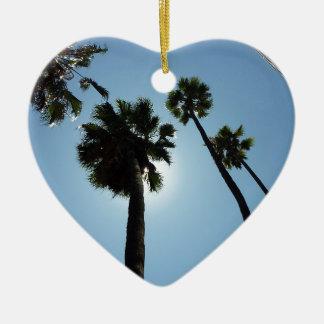 Palm Trees Los Angeles Hollywood Usa Christmas Ornament