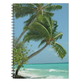 Palm View over the Sea Spiral Notebook