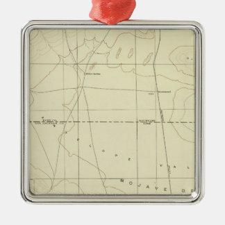 Palmdale quadrangle showing San Andreas Rift Christmas Ornament