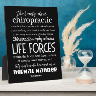 Palmer Quote  - The Beauty About Chiropractic Plaque