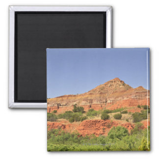 Palo Duro Canyon, Texas.  Successive rock layers Fridge Magnets