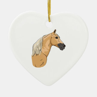 Palomino Tennessee Walking Horse 3 Ceramic Heart Decoration