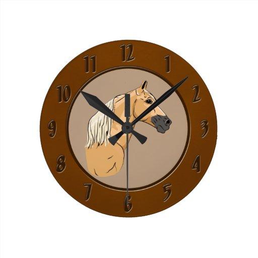 Palomino Tennessee Walking Horse 3 Wall Clocks